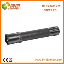 Bulk Sale Aluminum Material XPE Q3/Q5 America cree 3W led Multi-function Police Flashlight with Zoom Focus
