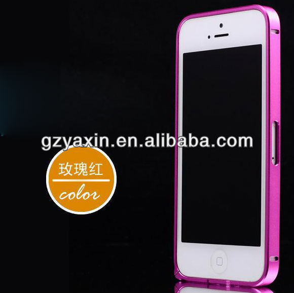 Aluminum metal frame bumper case for iphone5,0.7mm aluminum bumper frame case for iphone 5