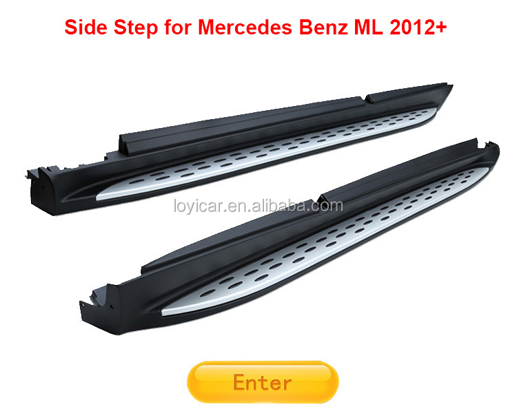 Aluminum Running Board for Mercedes Benz ML W164 2005-2011 Parts