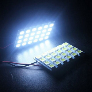 Car Interior Panel Dome Lamp Reading Plate Panel Light Super Bright LED Auto Roof Ceiling Wired Lamp 5050 SMD Festoon White 1set