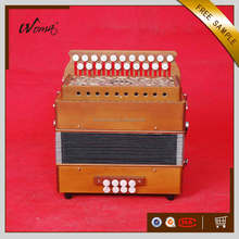 High Grade 21K8B Diatonic Wood Button Accordion With 3 Row Cagnoni Reeds