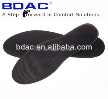 Black velour Therapeutic massaging Insoles/Liquid insole