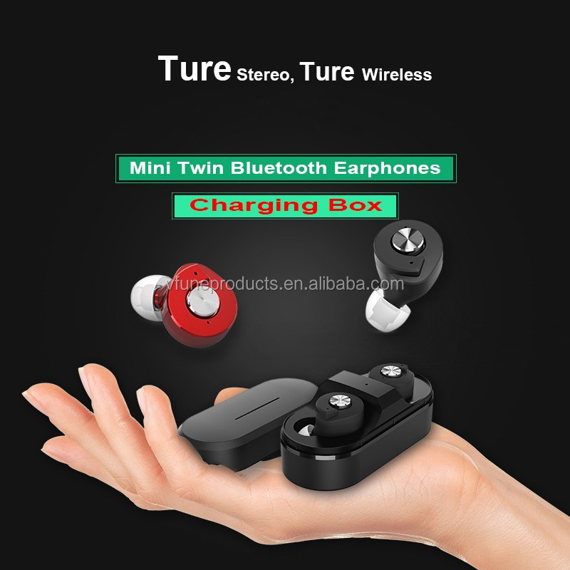 TWS Mini Earphones True Wireless Stereo Headphone Earphone with Charging Box