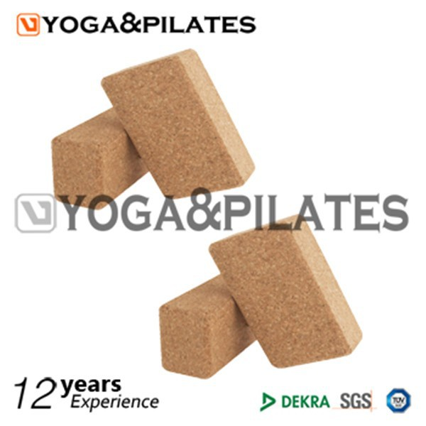 cork yoga block and brick