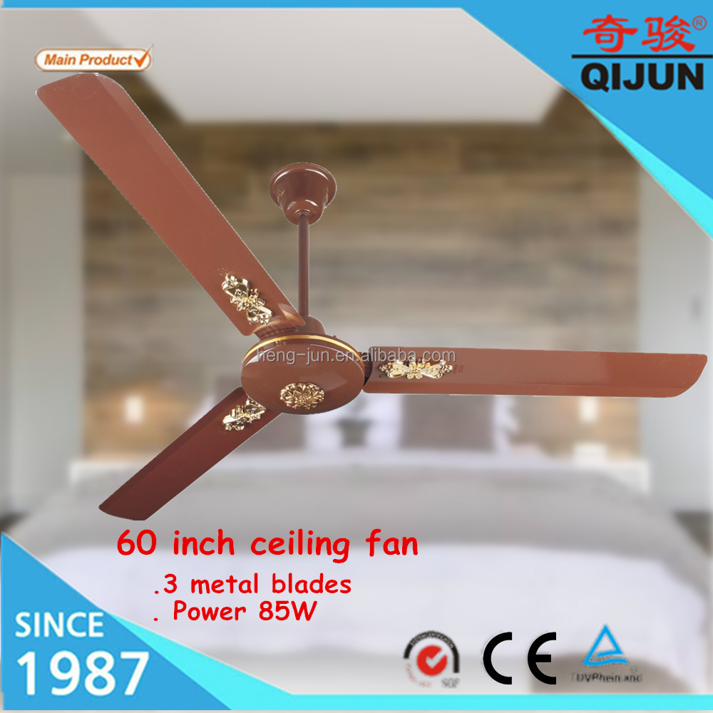 Africa electric Power Source ac ceiling fan with wall remote control specifications