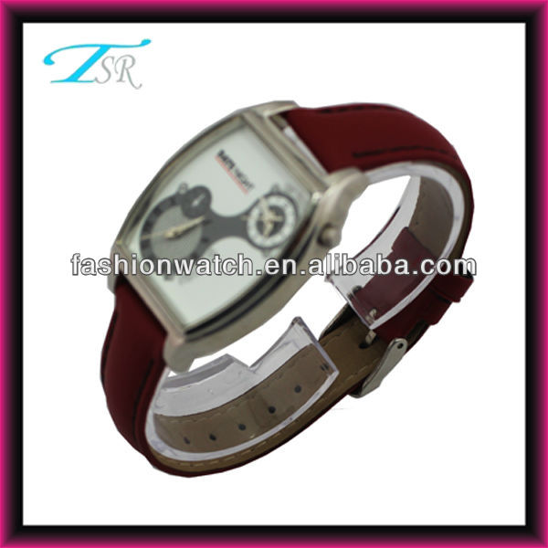 2013 china online shopping factory alloy case and PU band large orders dating two time cheap ladies fancy watches