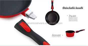 as seen on tv aluminum ceramic pans with moveable handle