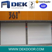 Automatic cheap galvanised finish steel slat roller shutter door