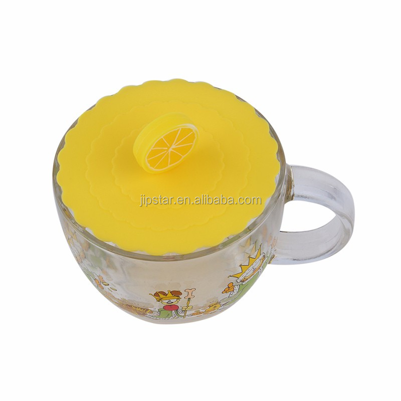New Arrival Food Grade Silicone Airtight Mug Glass Cup Lid Cover Seals Tight on All Containers