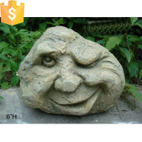 Large size monster head concrete garden decoration
