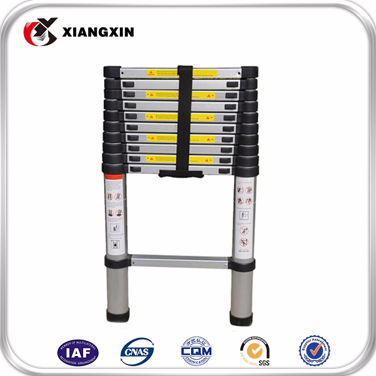 EN131-6 aluminium ladder used/telescopic ladder prices/folding ladder rubber feet