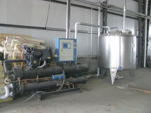 Industrial screw type water-cooled chiller for pasteurized milk and juice line