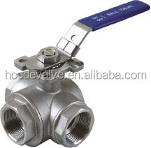 Hot Sale T/L Type Three Way Ball Valve Heavy Weight ,Thread Coneection ,Good Quality From China