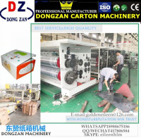 high speed flexo graphic printing slotting die cutting machine bearing roller packaging machine for corrugated paper box