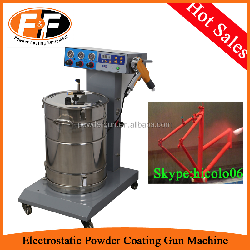 Fluidizited Hopper Electrostatic Powder Coating Machine for Metal