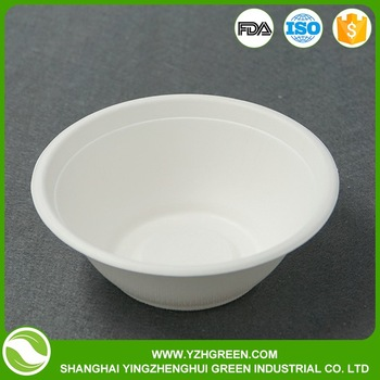 eco-friendly disposable 350ml pulp bowl