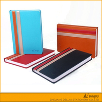 Customized small design pocket leather clear cover notebook