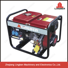 LingBen 5kVA Portable Used Diesel Welder Generator Prices For Sale