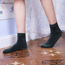 Fashion socks solid color female loose socks spring hot sale comfortable girl stcokings bright hosiery