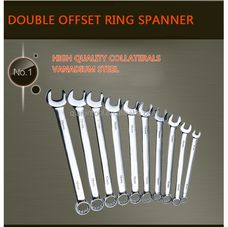 Double offset ring spanner wrench