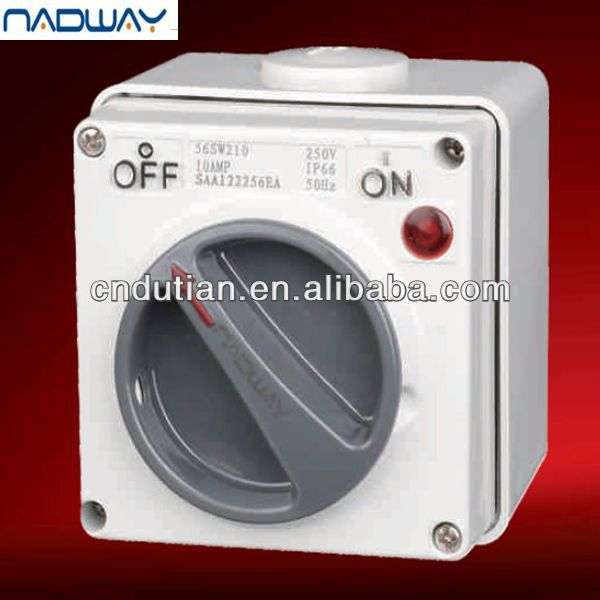 on top sale IP 66 10-63A electrica waterproof industrial rotary action modern PC waterproof outdoor industrial switch