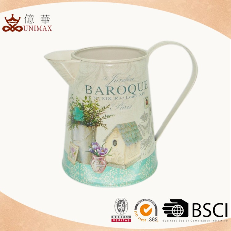 China manufacturer professional produce antique metal pitchers wholesale