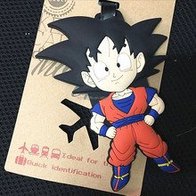Travel Large Luggage Tag Cute Cartoon Silica Gel Dragon Ball Suitcase Baggage Boarding Tags Portable Travel Label