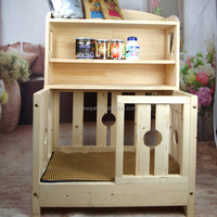 Top quality hot selling pet house bed painted wooden dog house with locker