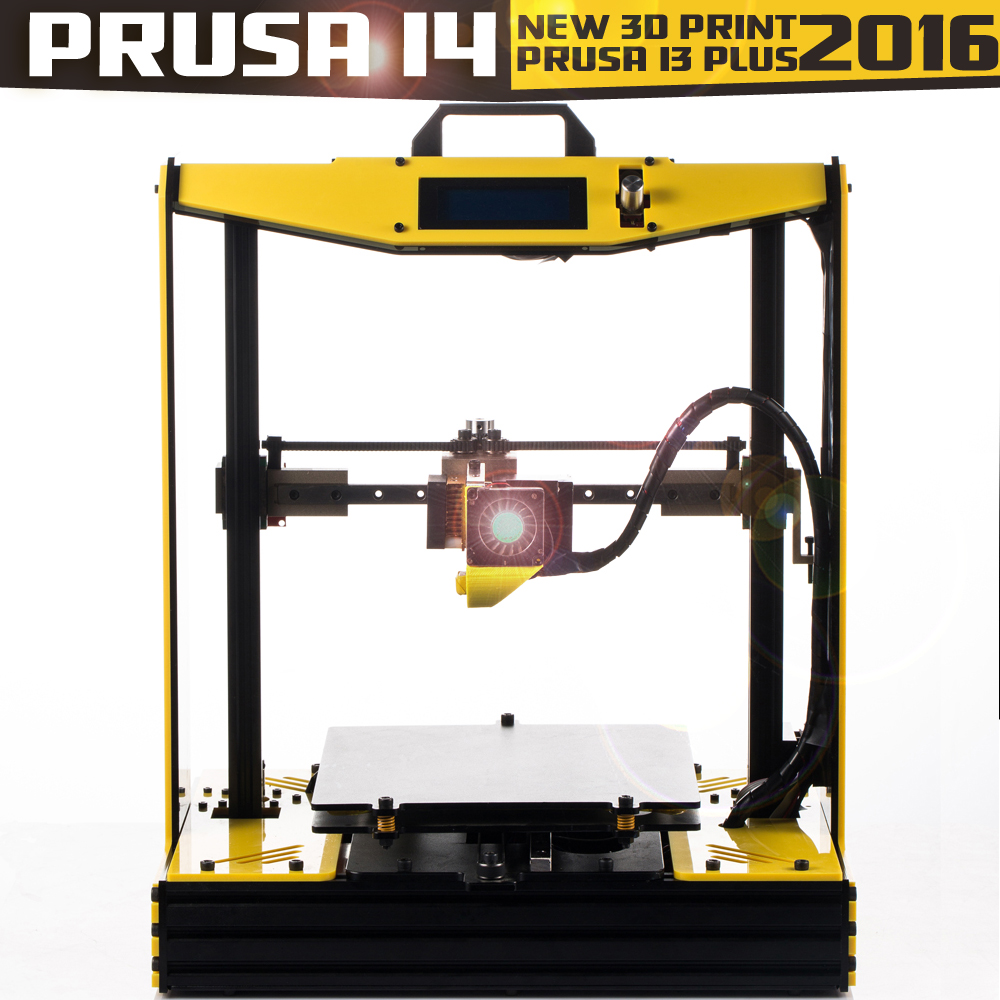 2016 Big Printing size prusa i4-Bumblebee High Accurancy prusa i3 plus 3d printer 2Rolls filament +SD card+nozzles