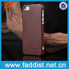 Coffee brown leather phone case for iphone5 5s
