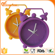 Silicone alarm clock with two bells