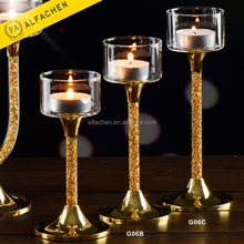 Gold Stand Wedding Gift Candelabra Tall Stemmed Candle Holder