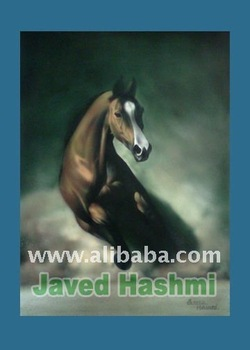 Awesome Horse Painting - Realistik Brown RunningHorse