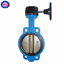 DN100 PN16 Wafer LT type butterfly valve worm gear operator