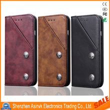 Leather cases Folio Flip Card Slot Kickstand Shockproof Magnetic Closure Wallet Case for Samsung Galaxy S8