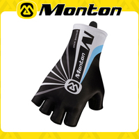 Cool&comfortable black-blue 2015Monton new design short cycling/bike/road cycle gloves with customized