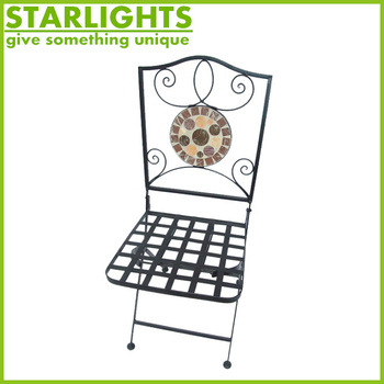 Metal Backrest Folding Chairs for Outdoor Garden