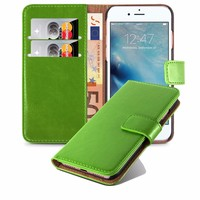 Credit Card Slots Synthetic Leather Wallet Mobile Phone Case Back Cover For iPhone 7 Plus