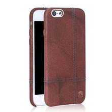 Leather phone case for apple iphone 6 mobile phone back case cutom logo