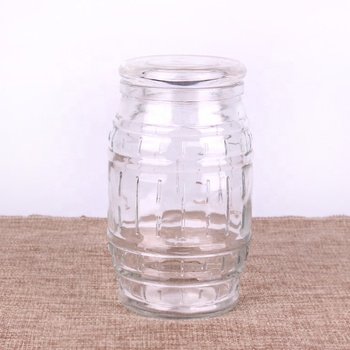 600ml glass jar for honey jam food storage with customized cap