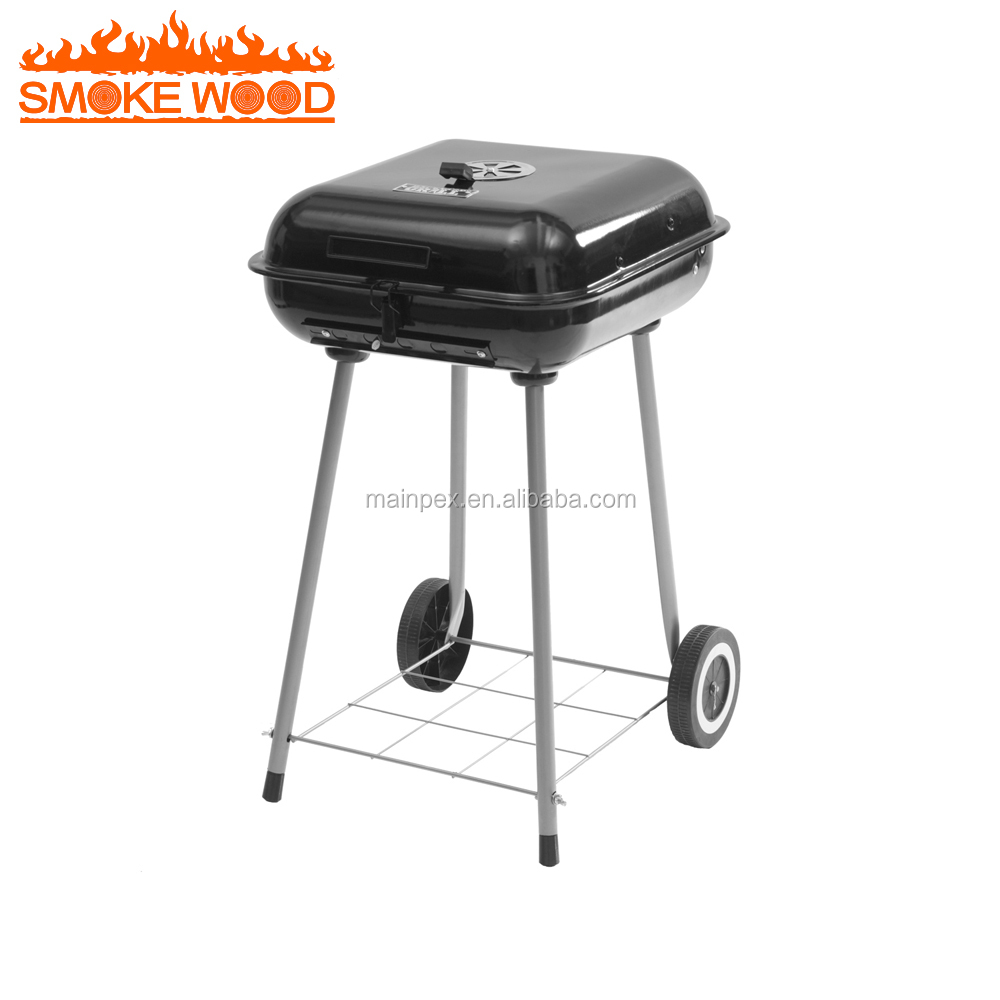2017 Automne Nécessaire Extérieure Heavy Duty Grand Baril Chariot Portable Barbecue Charbon barbecue Grill Fumeur