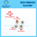 Rounded gold ball shape ending cord stopper string end