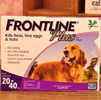 Frontline Plus For Dogs 45-88 lbs (for 20-40 Kg) 3 MONTHS (Doses) Flea Control
