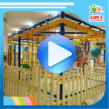 High quality Kids play gym equipment ropes course, kid indoor climb house