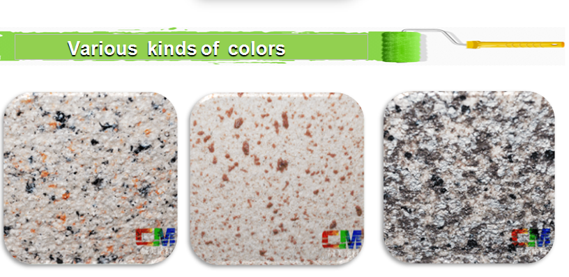 Waterbase Granite Paint Effect  Rock Stone Paint With Exterior Wall Coating