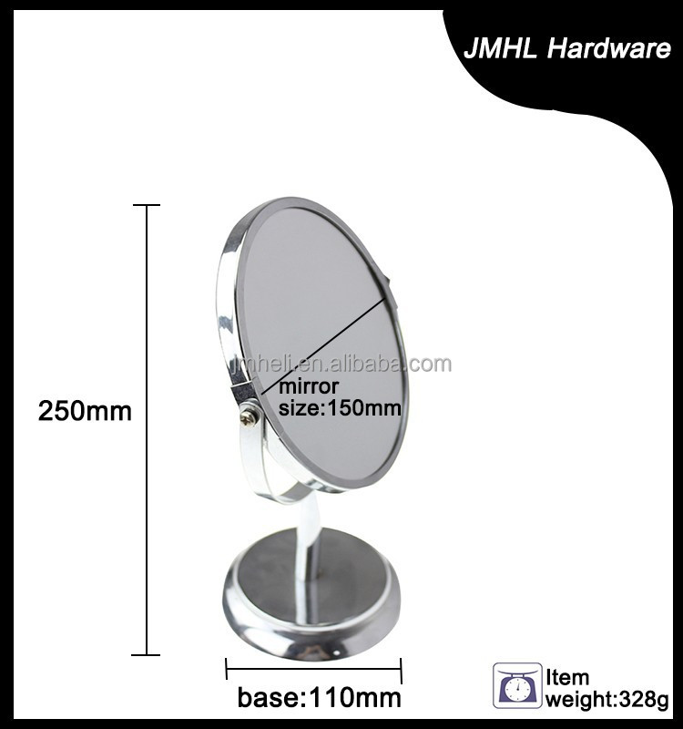 Chrome Free Standing Double Sided Makeup Mirror with Plastic beads,Table Mirror