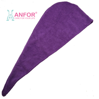 Solid color microfiber turban towel hair drying