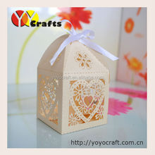 "100pieces/lot Wedding Favors packing Boxes wedding Chocolate Boxes ""butterfly""laser cut Wedding cookie packing boxes"