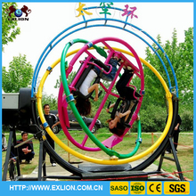Amusement ride adults electric gyroscope 2 seats gyroscope human for sale