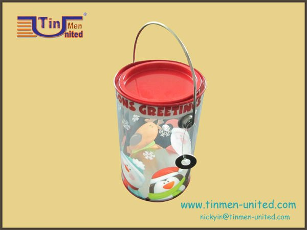 sweet PET box tin, paint tin can pvc packing box
